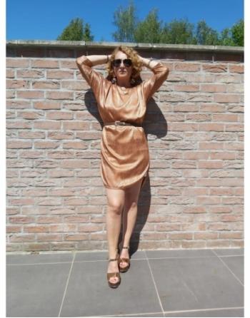 robe style soie